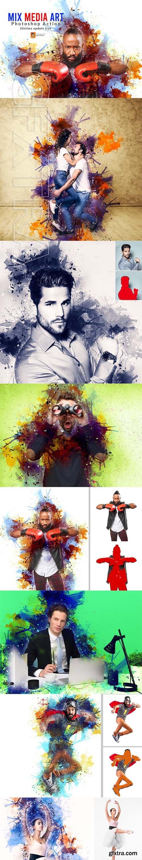 CreativeMarket - Mix Media Art PS Action 3634383