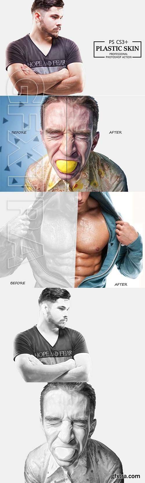 CreativeMarket - Plastic Skin Photoshop Action 3617309