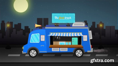 VideoHive Food Truck Logo Reveal 23821816