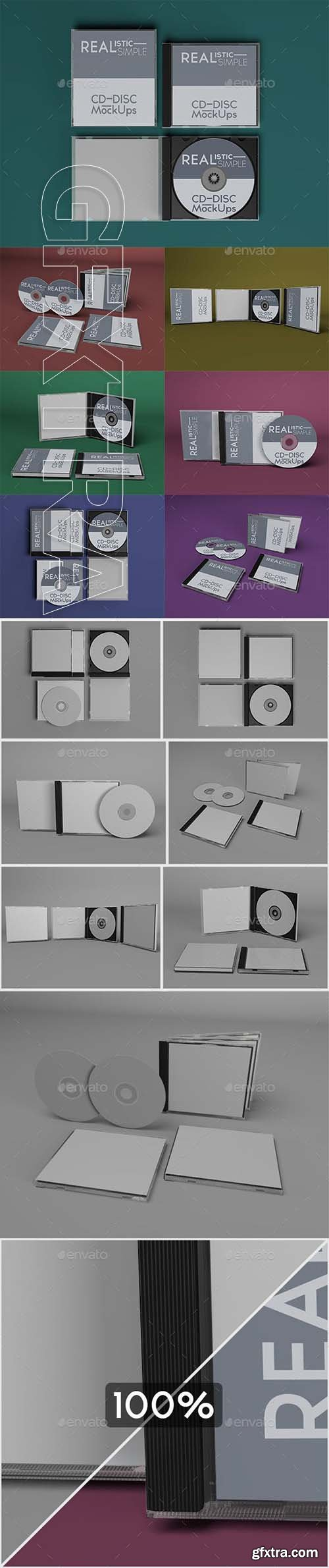 GraphicRiver - Realistic Simple CD-Disc Mock-Ups 23804927
