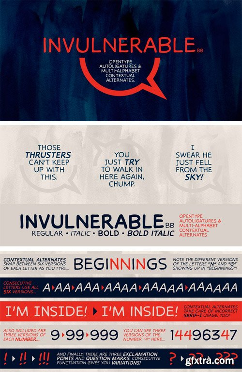 Invulnerable BB Font Family