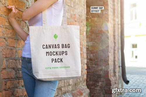 Canvas Bag Mockups Pack - City Park Edition