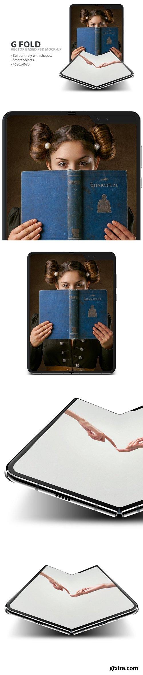 G Fold Smartphone PSD Mock-Ups