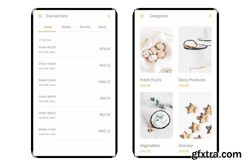 Grocery - Online Shopping Store UI Kit for Figma » GFxtra