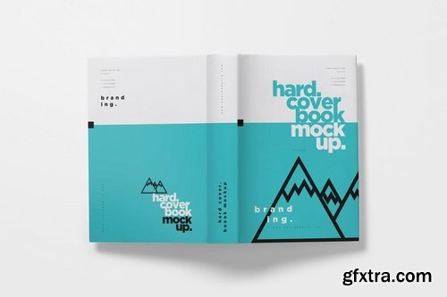 Hardcover Book Mockups with Dust Cover