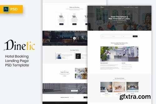 Hotel Booking - Landing Page PSD Template