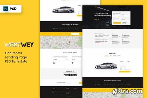 Car Rental - Landing Page PSD Template