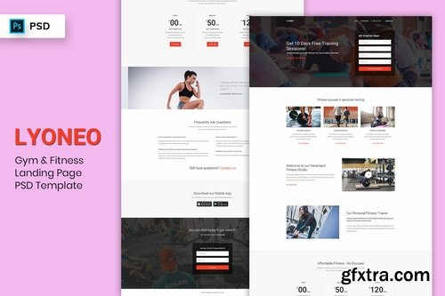 Gym & Fitness - Landing Page PSD Template
