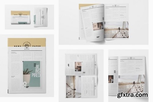 Tabloid Size Newspaper Mockups