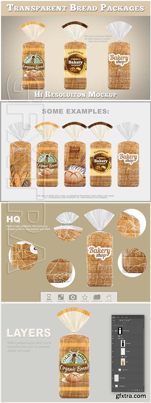 CreativeMarket - Bread Package Mockup 3765968
