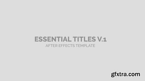 Pond5 - Essential Titles - 091221747