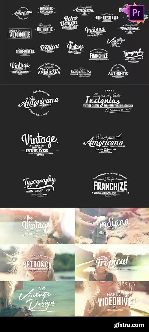 Videohive - Vintage Typography Pack 26 Animated Badges | Mogrt - 21674446