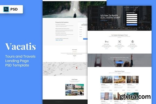 Tours & Travels - Landing Page PSD Template