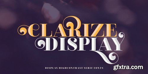 Clarize Display Font Family