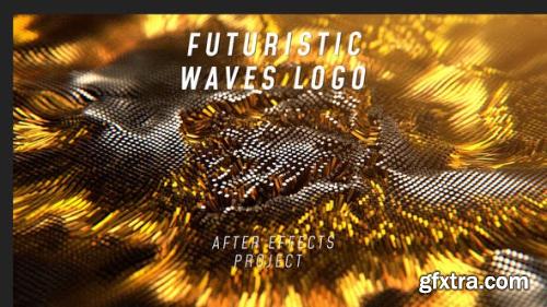 VideoHive Futuristic Waves Logo 23765526