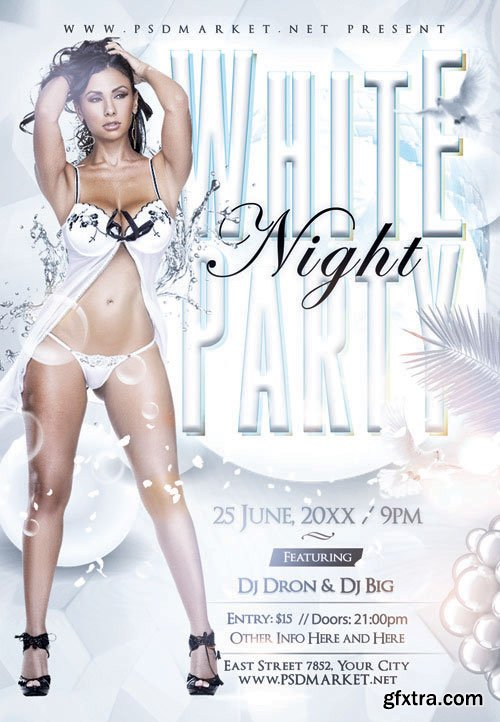 WHITE PARTY NIGHT FLYER – PSD TEMPLATE