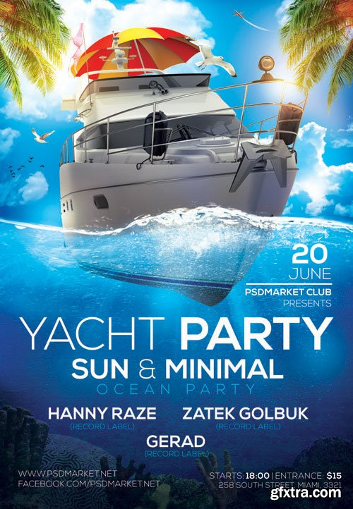 YACHT PARTY – PREMIUM FLYER PSD TEMPLATE