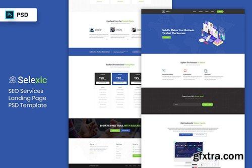 SEO Service - Landing Page PSD Template