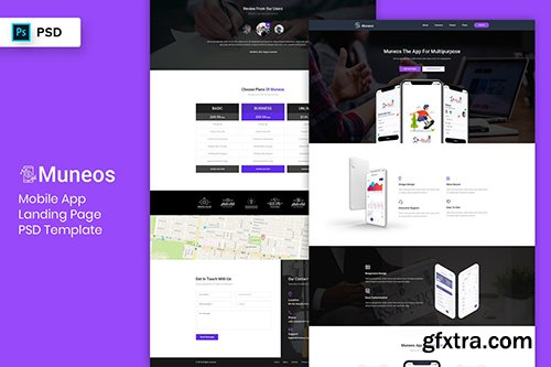 Mobile App - Landing Page PSD Template-03