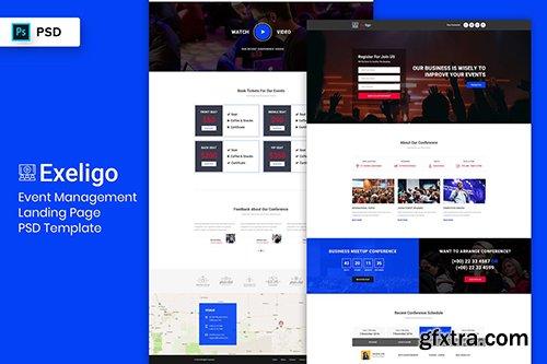 Event Management - Landing Page PSD Template