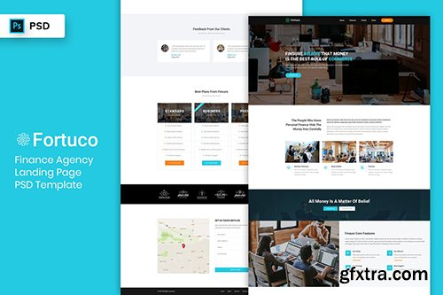 Finance Agency - Landing Page PSD Template