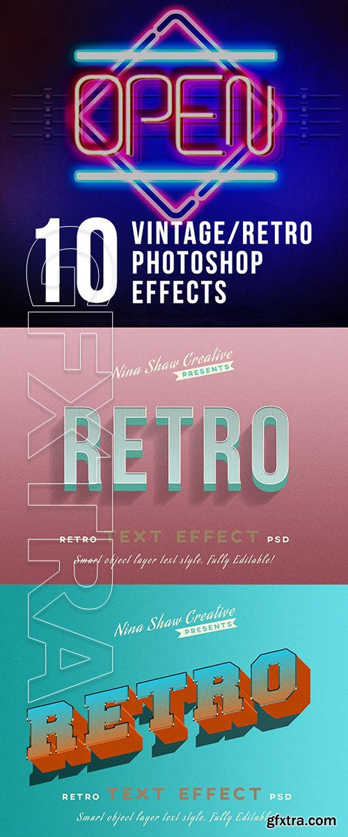 GraphicRiver - Retro Vintage Text Effects 23825859