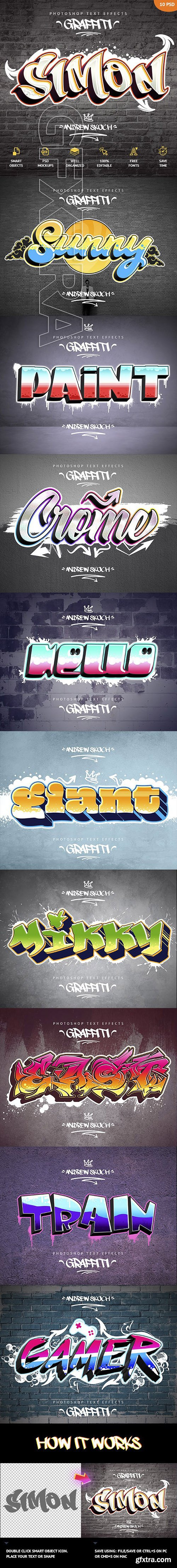 GraphicRiver - Graffiti Text Effects - 10 PSD 23797200