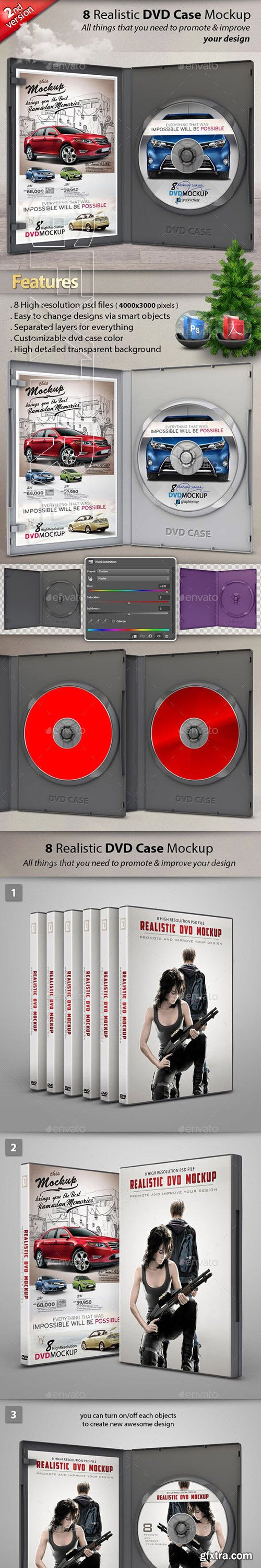 GraphicRiver - Realistic DVD CD Case Mockup 23803155