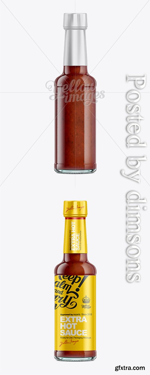 Hot Sauce Bottle Mockup 10530