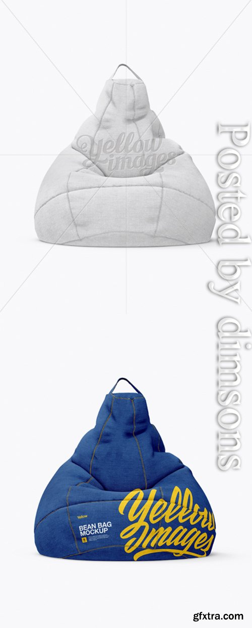Canvas Bean Bag Mockup 18469