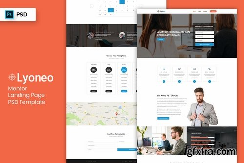 Mentor - Landing Page PSD Template