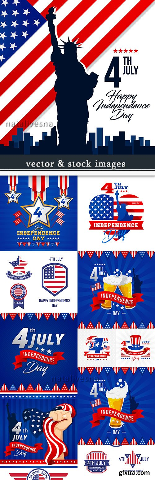 Independence Day USA illustration vector design 2