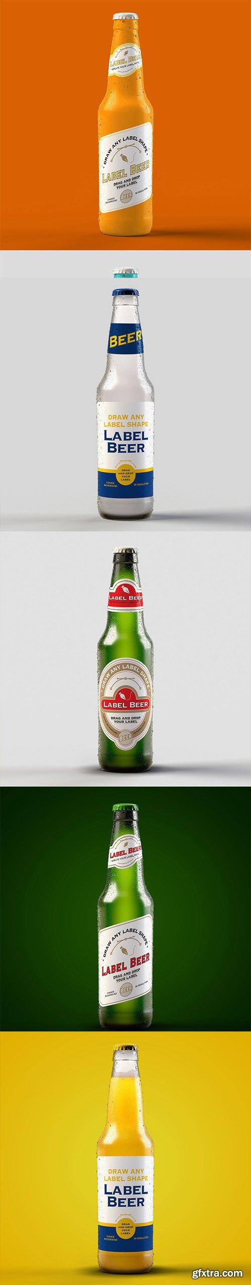 Beer Bottle Packaging Design Mockups