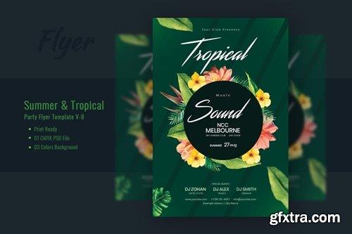 Summer & Tropical Sound Flyer Template V-8