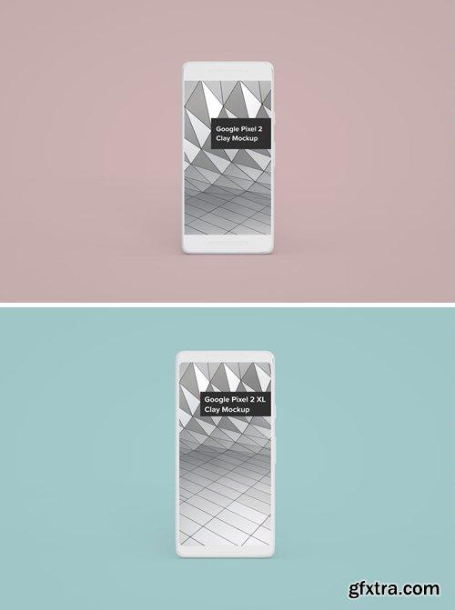 Google Pixel 2 XL Clay Android Phone Mockup