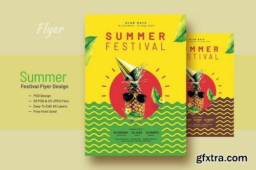 Summer Festival Flyer Design V-8