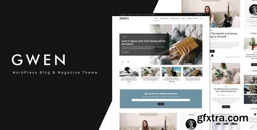 ThemeForest - Gwen v1.0 - Creative Personal WordPress Blog Theme - 23619535