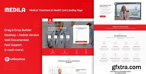 ThemeForest - Medila v1.0 - Medical Treatment & Health Care Unbounce Landing Page Template - 23782158