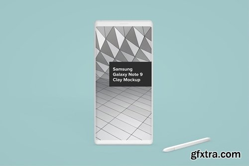Samsung Galaxy Note 9 Clay Android Phone Mockup