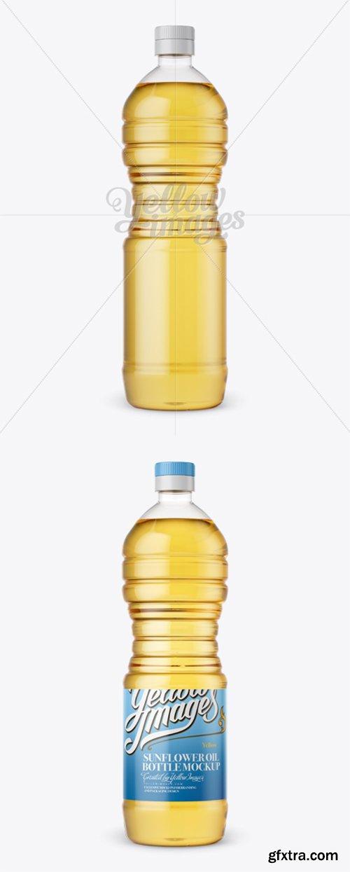 Plastic Sunflower Oil Bottle Mockup 13095