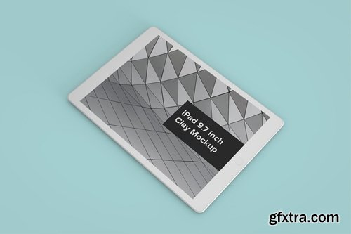 iPad Perspective Clay Mockup