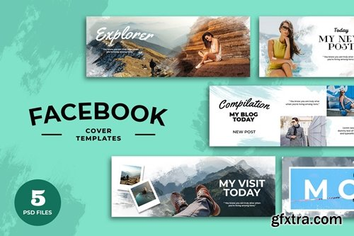 Facebook Cover Water Color Template