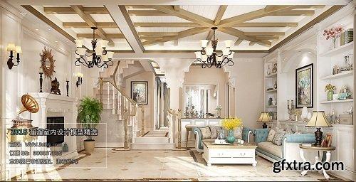 American Style Living Room Interior Scene 10