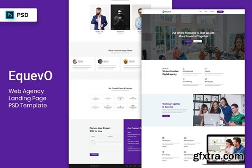 Web Agency - Landing Page PSD Template