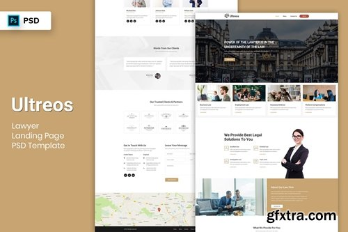 Lawyer - Landing Page PSD Template