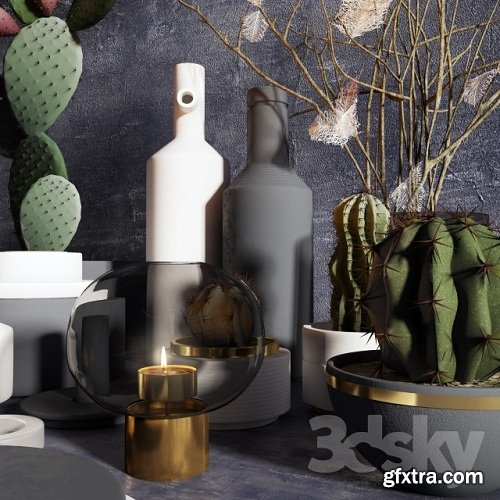 Silent M with decor 3d Model