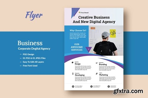 Business And Corporate Digital Agency Flyer V-2