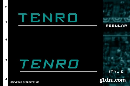 CM - Tenro Display Font 3789907