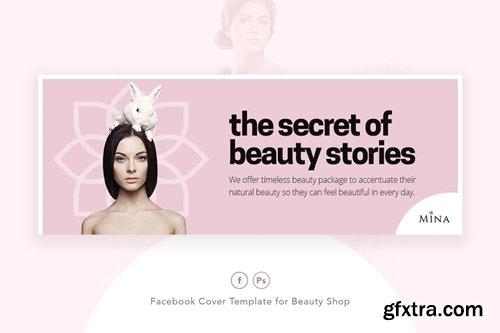 Mina - Beauty Shop Facebook Cover Template