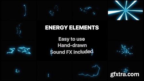 Cartoon Energy Elements 227023